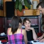 Coffee Shop scene with my onscreen boyfriend Kevin Walker
