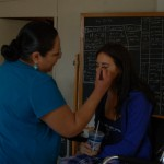 Getting my makeup did!