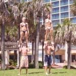 Stunting on the beach fun